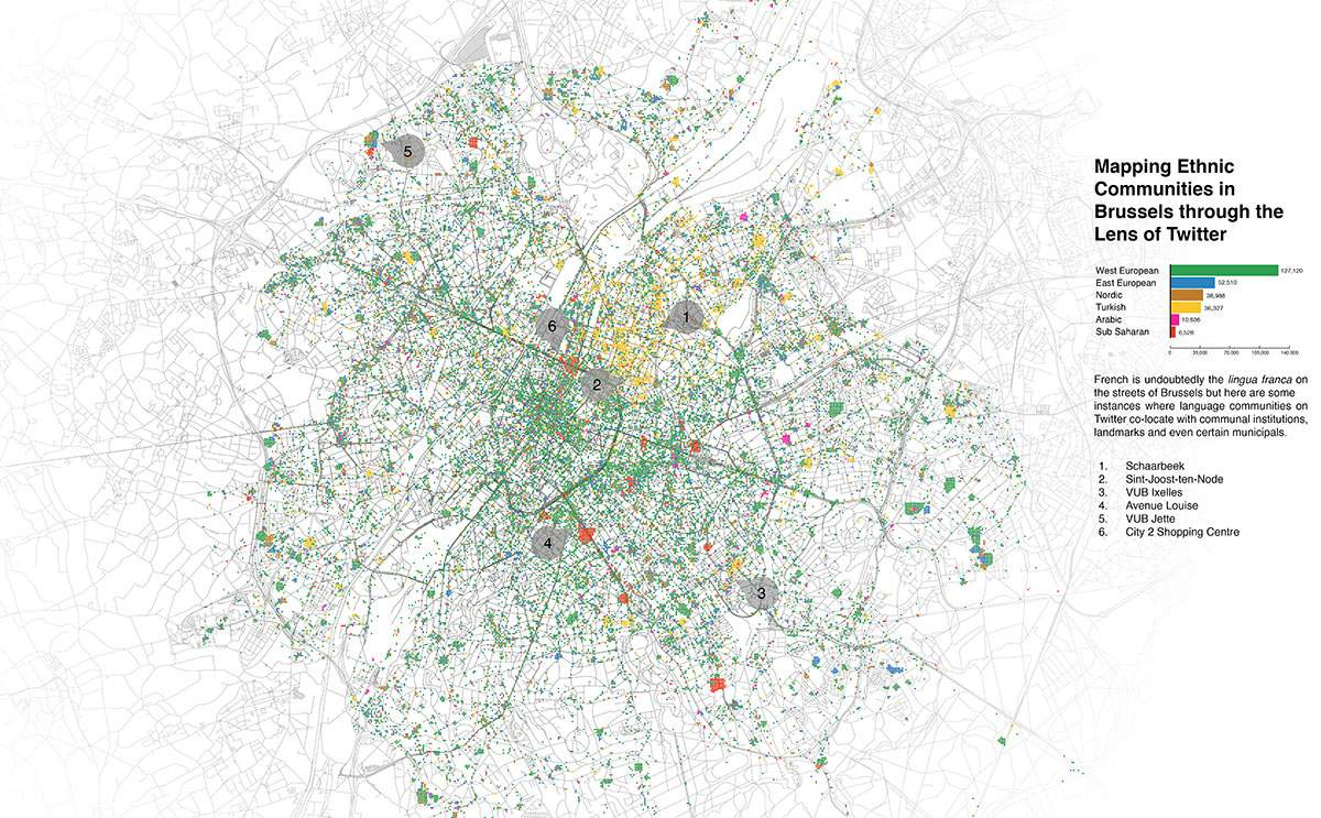 Mapping Ethnic Communities in Brussels through the Lens of Twitter